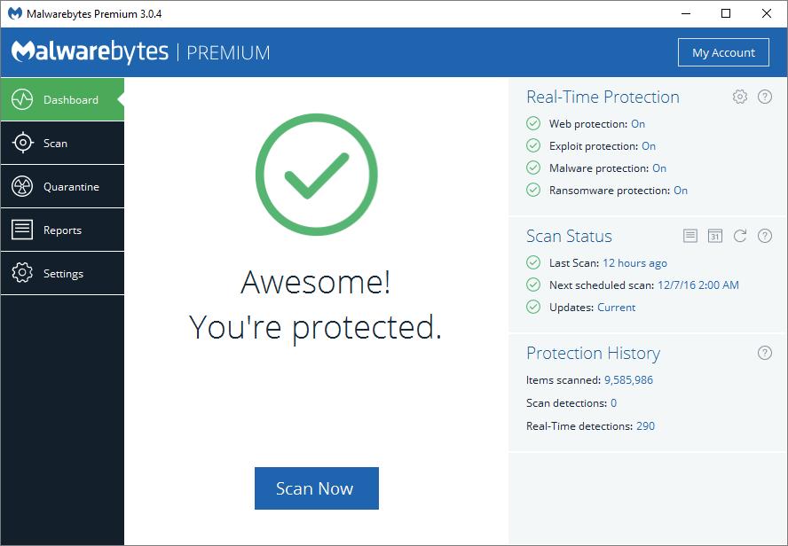 Антивирус Malwarebyres free/AdwCleaner