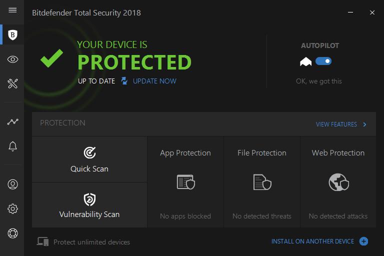 Антивирус Bitdefender Total Security